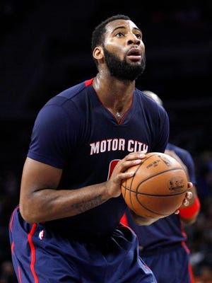 Detroit Pistons center Andre Drummond (0) takes a free throw during the fourth quarter against the Charlotte Hornets at The Palace of Auburn Hills.
