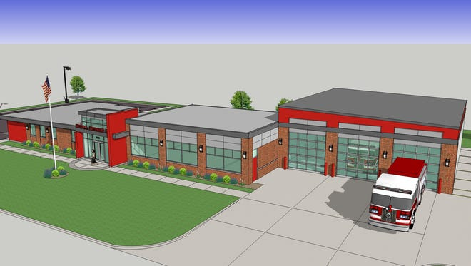A rendering of the Kimball Township Fire Department