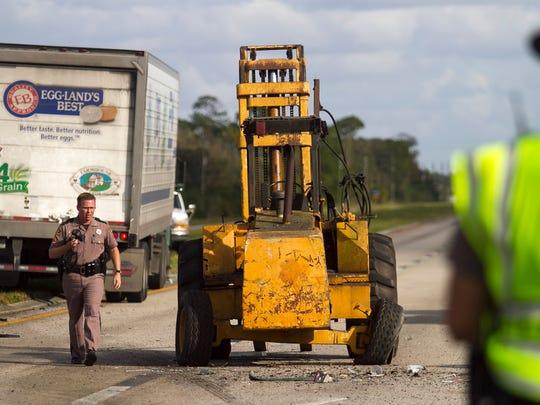 FHP officers investigate a fatal crash on Palm Beach