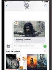 Fandango ticketing is integrated into Apple's Messaging