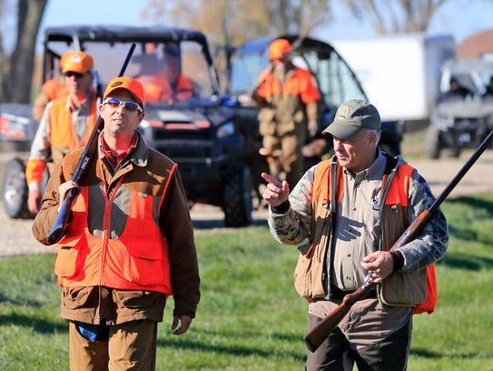 Donald Trump Jr. and Rep. Steve King hunt pheasant