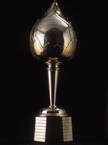 The Hart Memorial Trophy is presented yearly to the