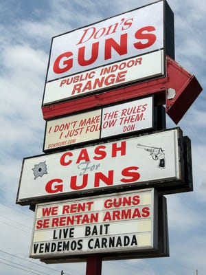 Gun shops and shooting ranges, including Don's Guns at Lafayette Road just off of 38th Street, are expecting a boost in business as 70,000 members of the National Rifle Association attend their annual convention in Indianapolis this weekend.