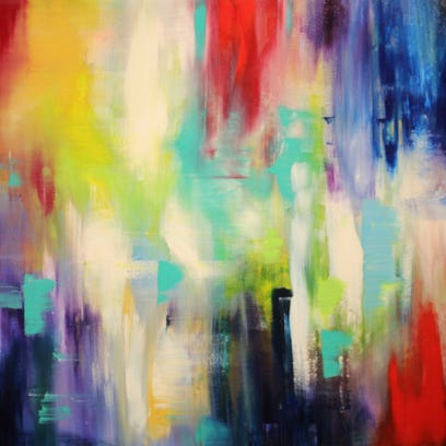 """""""Just Let Go,"""" an acrylic by Ruthie Swedlund, was painted"""