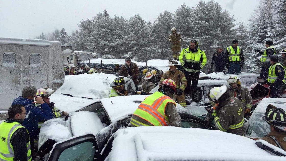 I 95 In Maine Partially Reopened After 75 Vehicle Pileup