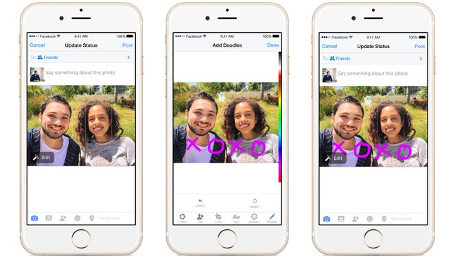 Facebook is rolling out Doodle which lets you draw on photographs.