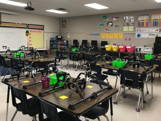 Yessenia Tobias' third-grade classroom at Lamar Elementary.