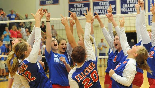 West Henderson's volleyball team