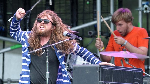 J. Roddy Walston & The Business perform a noon set at Firefly Music Festival in 2012.