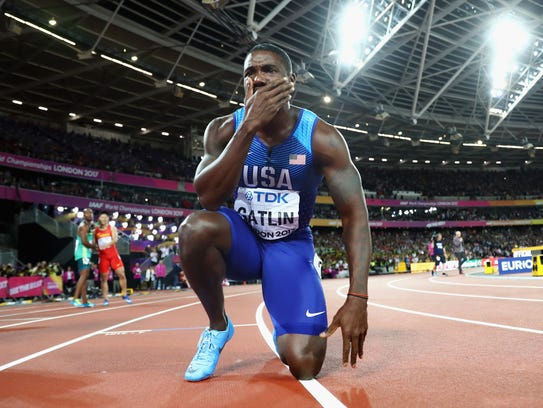 LONDON, ENGLAND - AUGUST 05:  Justin Gatlin of the