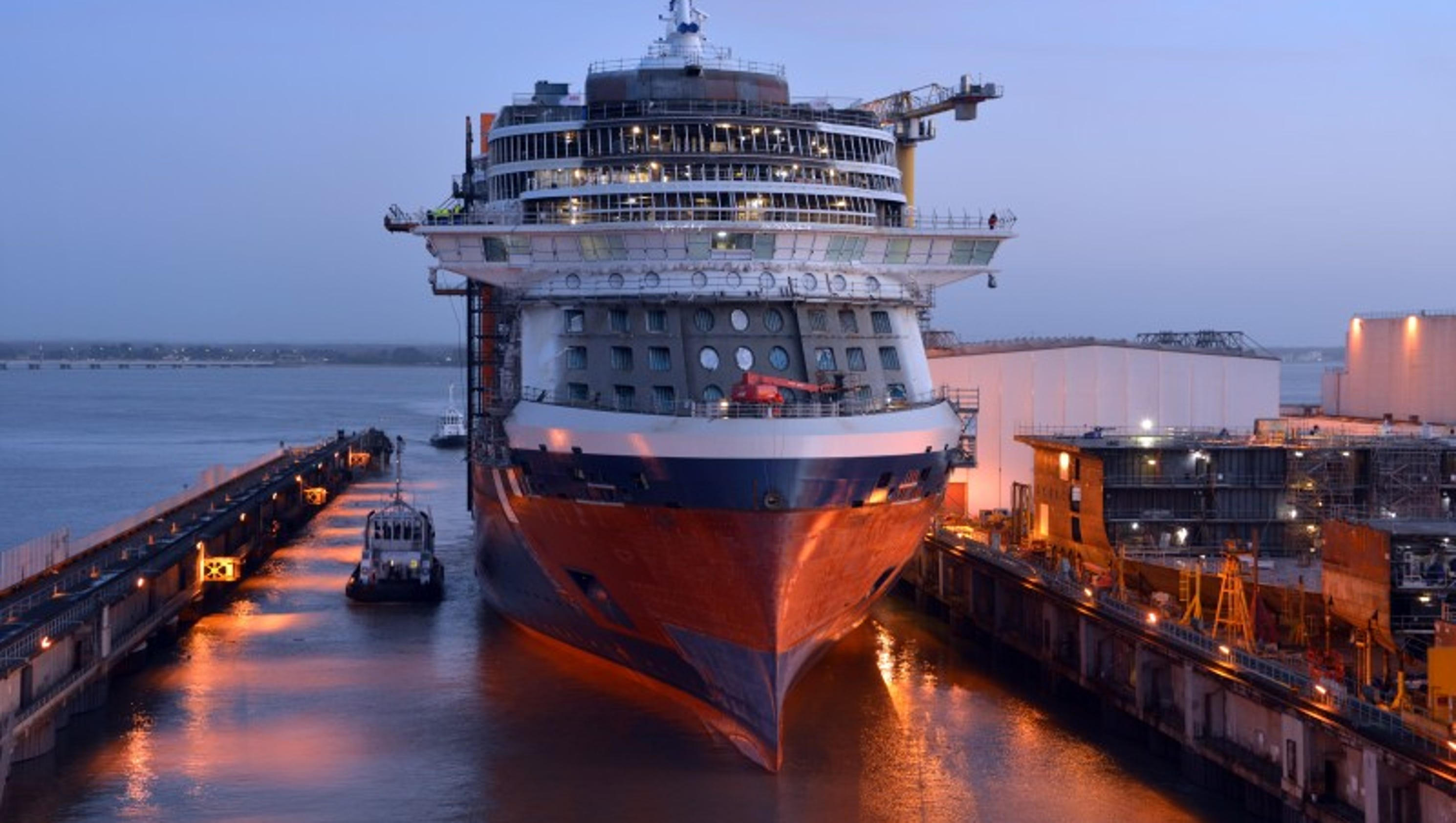 Celebrity Edge New Celebrity Cruises Ship Takes To Water