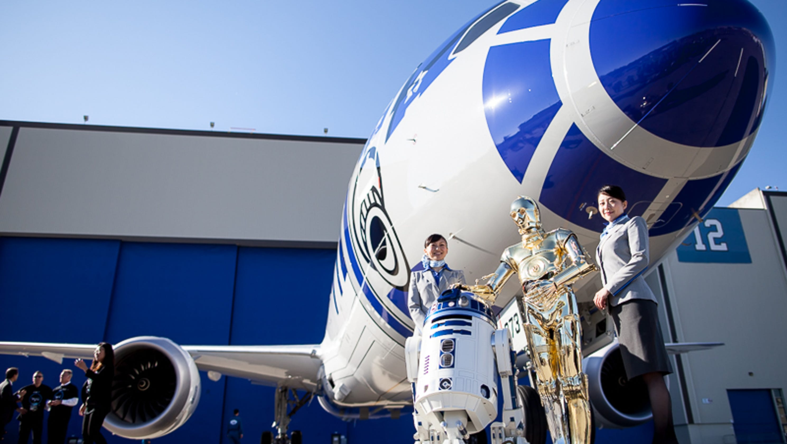 check out the all nippon airways dreamliner painted like r2