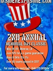 The Memorial Day Classic tournament will take place