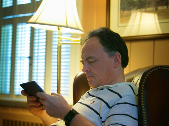 Nigel Pond was laid-off from DuPont back in November of 2015 and now spends most of his time at home searching through jobs online with his iPad.