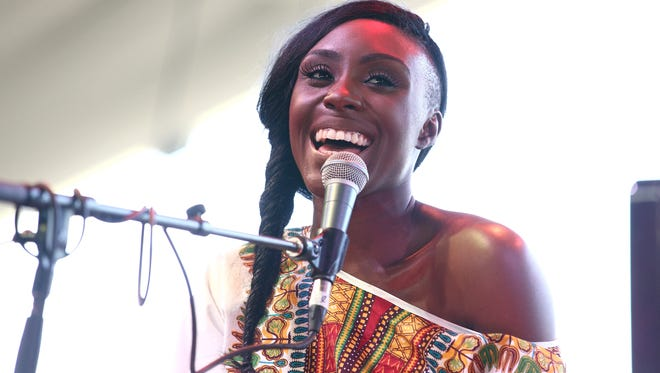 Laura Mvula performs at the Coachella Valley Music & Arts Festival at the Empire Polo Club on April 12, 2014, in Indio, Calif.