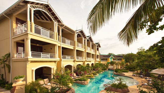 The all-inclusive Sandals Royal Caribbean Resort & Private Island in Montego Bay, Jamaica, includes  ground-floor swim-up suites.