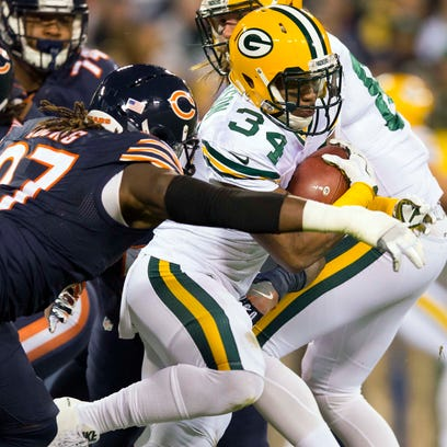 Green Bay Packers running back Don Jackson (34) is