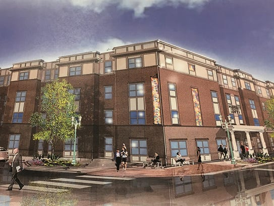 Proposed Walnut Lofts apartments south of downtown