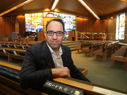 Rabbi Daniel Gropper is photographed in the Sanctuary