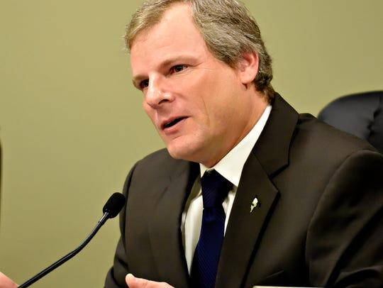 York City Council President Michael Helfrich asks candidates