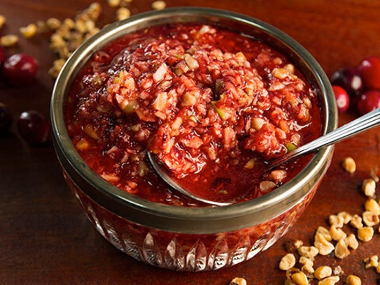 Get this recipe for Cranberry Relish using black walnuts