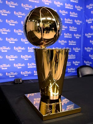 The Larry O'Brien Trophy is the goal at the end of the playoff journey.