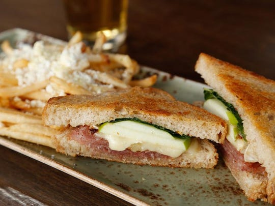 The brie hive sandwich from Salut Kitchen Bar includes