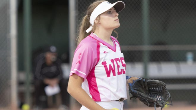 Pueblo West High School senior Hanna Winden is the softball team's bullpen catcher, utility player and pinch runner extraordinaire. While she doesn't play much, she brings energy and positivity to the team.