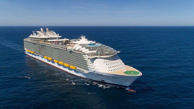 At 228,081 tons, Royal Caribbean's Symphony of the Seas is the world's largest cruise ship