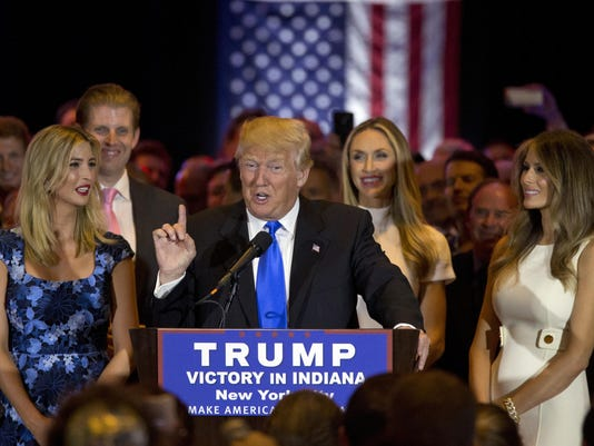Donald Trump, Melania Trump, Ivanka Trump, Eric Trump