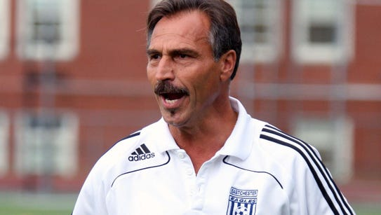 Coach Alfio Carrabotta encourages his players during