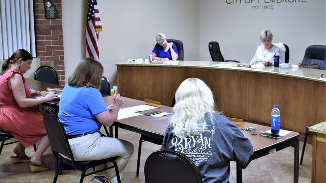 Pembroke Mayor Judy Cook told council members at the June 8 meeting that city hall was reopening June 15 and city business was slowly returning to normal.