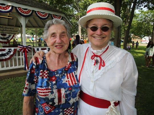 Betty Taylor and Nancy Hackett. File photo