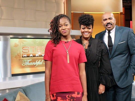 Camden's Arnetta Johnson (left) surprises singer/actress