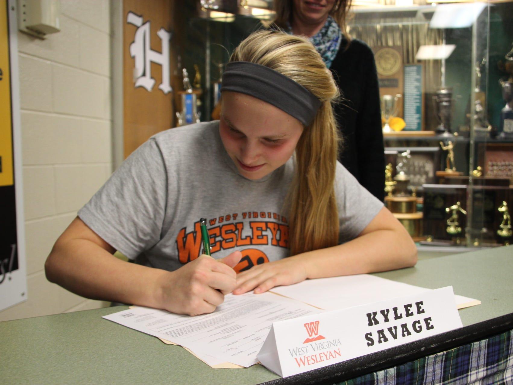 Howell's Kylee Savage will swim next year at West Virginia Wesleyan College.