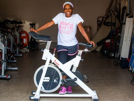 Gym owner Deleskia of Distinctive Workout Boutique used a $5,000 loan to help open an innovative fitness boutique that encompasses aerobics, cycling, fitness boot camps and networking for professional women.