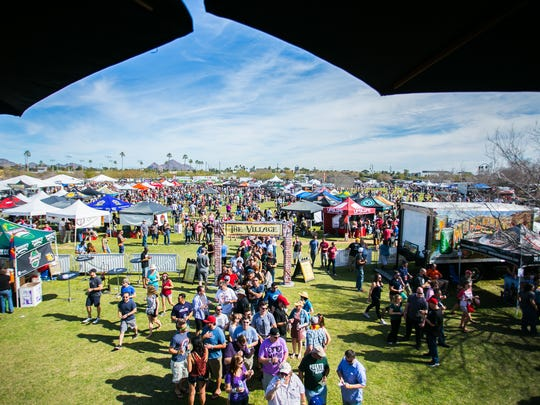 The scene at the Strong Beer Festival, a part of Arizona