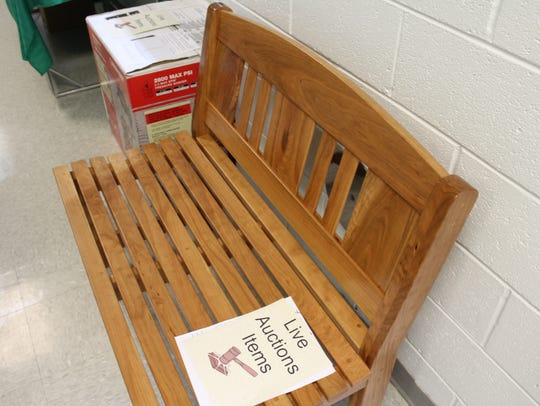 This bench, made by Marty Moore from cherry, was the
