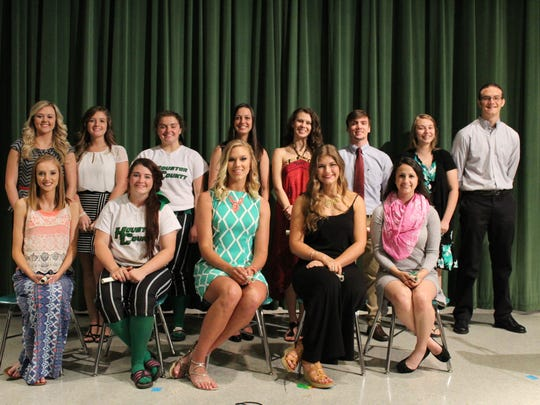Pictured are the senior award winners.