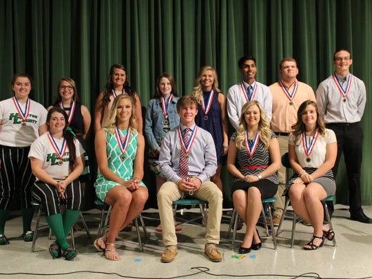 Pictured are the Tennessee Scholar award winners with their medals.