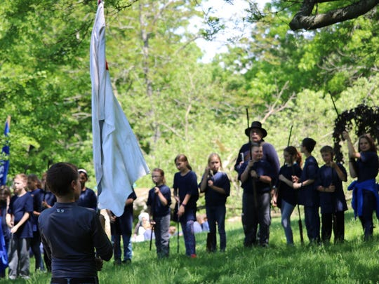 Kohler Elementary school hosted Oostburg Elementary, Sheboygan Falls Elementary and Jefferson and Jackson Elementary Schools in Manitowoc, as well as a host of reenactors from Angels of the Battlefield and Cushing's Battery, for its annual Civil War reenactment Monday, June 6, 2016.