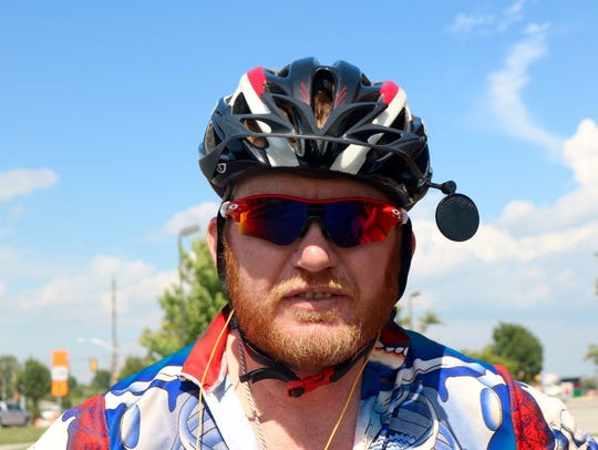 Thomas Beasley, from Anaheim, California, has biked
