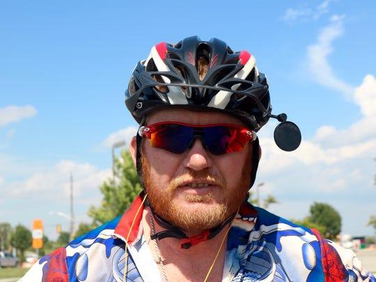 Thomas Beasley, from Anaheim, California, has biked