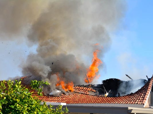 Sun Lakes home damaged by fire