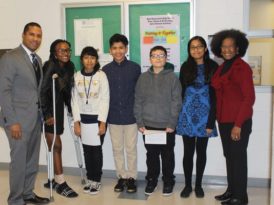 New Brunswick Middle School students honored at BOE meeing