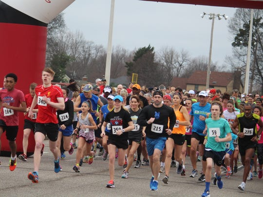 More than 600 participated in the annual Valentine's Day 5K and 10K Walk & Run on Feb. 11, that began and finished at Bartlett Baptist Church.