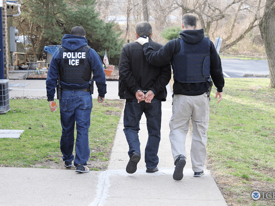 Michigan had the second highest rate of ICE community arrests over a 20-month period from the start of fiscal year 2017 (Oct 1, 2016) through May 2018, among all states with at least 100,000 undocumented immigrants, according to data analyzed by Syracuse University's TRAC.  Photo from Immigration and Customs Enforcement (ICE).