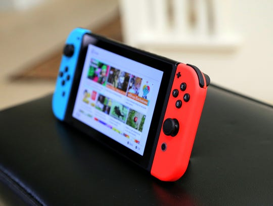 The Nintendo Switch's neon Joy-Con controllers give