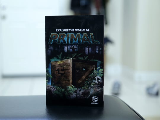 Unboxing the Loot Crate March 2017 Primal Box, which includes items featuring Overwatch, Logan and Predator.