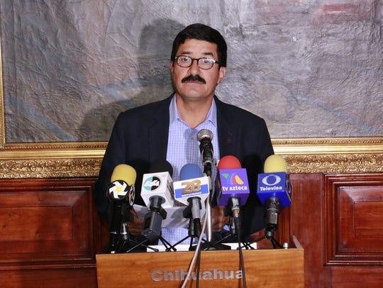 Chihuahua Gov. Javier Corral said at a Wednesday news